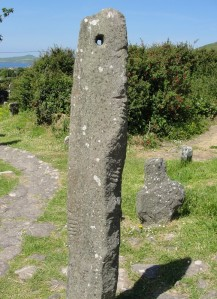 Ogham Stone, Kilmalkedar Church, Ireland